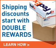 Shipping discounts start with double rewards